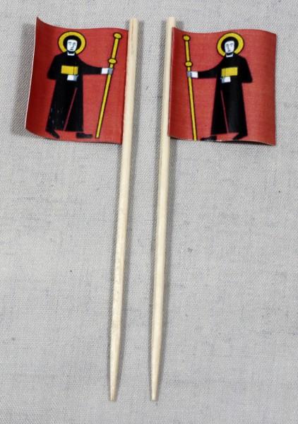 Party-Picker Flagge Glarus Kanton Schweiz Papierfähnchen in Spitzenqualität 50 Stück Beutel