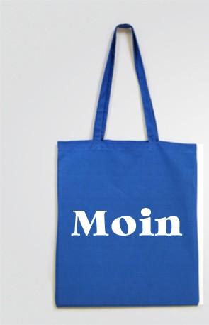 Stofftasche Einkaufstasche Moin beidseitig bedruckt Stoffbeutel lange Henkel