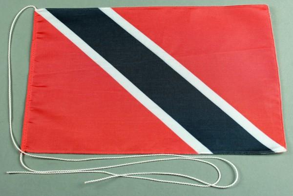 Tischflagge Trinidad und Tobago 25x15 cm optional mit Holz- oder Chromständer Tischfahne Tischfähnch