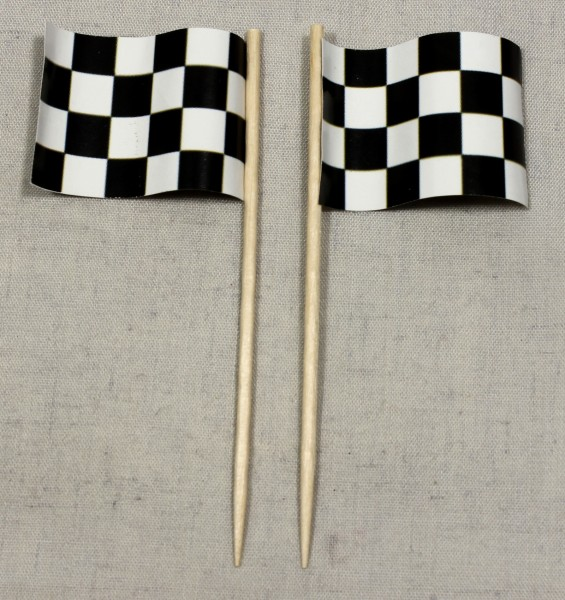 Party-Picker Flagge Zielflagge Motorsport Papierfähnchen in Spitzenqualität 50 Stück Beutel