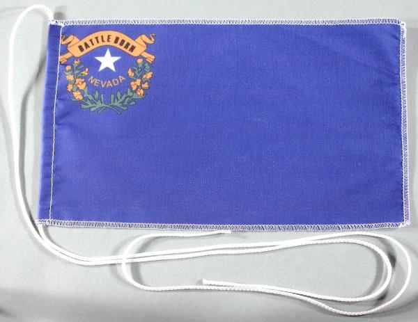 Tischflagge Nevada USA Bundesstaat US State 25x15 cm optional mit Holz- oder Chromständer Tischfahne