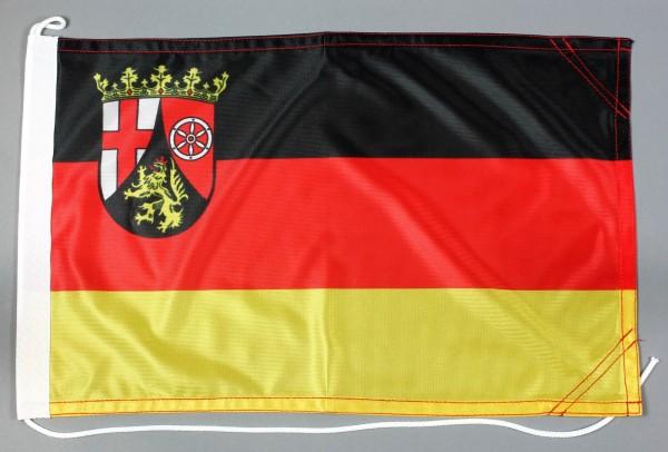 Bootsflagge Rheinland Pfalz 30x45 cm Motorradflagge Bootsfahne