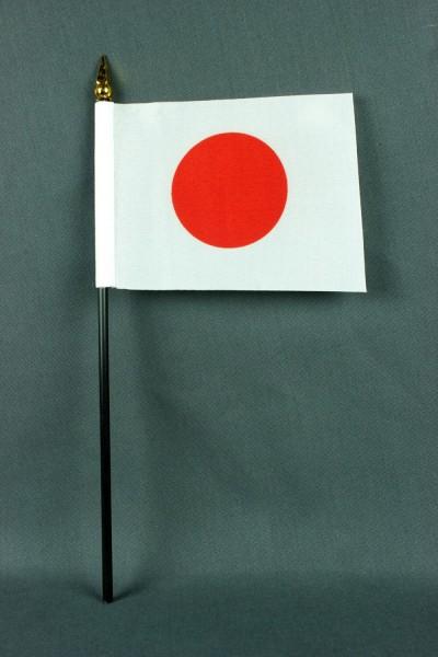 Kleine Tischflagge Japan 10x15 cm optional mit Tischfähnchenständer