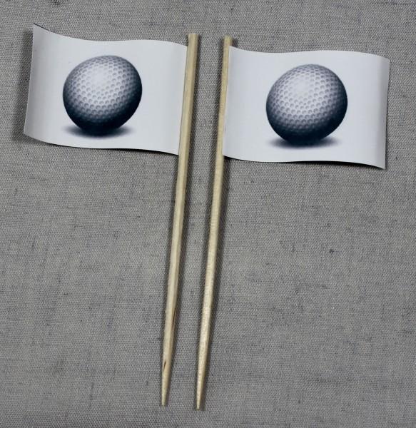 Party-Picker Flagge Golfball Golf Papierfähnchen in Spitzenqualität 50 Stück Beutel