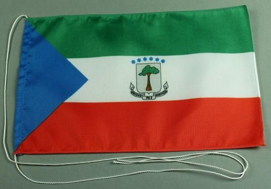 Tischflagge Aequatorial Guinesa Äquatorial Guinea 25x15 cm optional mit Holz- oder Chromständer Tisc
