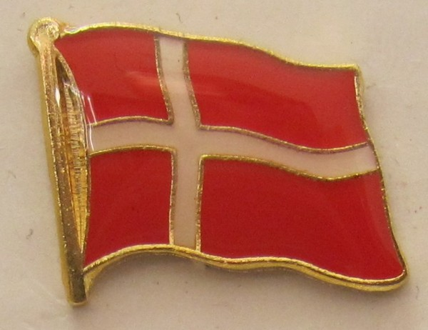 Pin Anstecker Flagge Fahne Dänemark Nationalflagge Flaggenpin Button Badge Flaggen Clip Anstecknadel