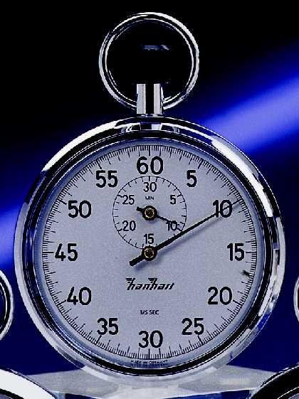 Mechanische analog Kronen Stoppuhr Hanhart 1/5 sec 30 min