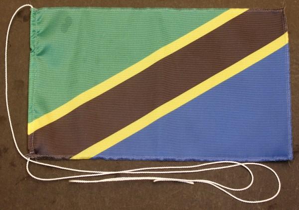 Tischflagge Tansania 25x15 cm optional mit Holz- oder Chromständer Tischfahne Tischfähnchen