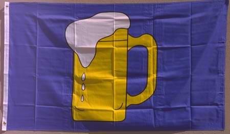 Flagge Fahne : Bierkrug Bierflagge Bierglas Bierkrugflagge