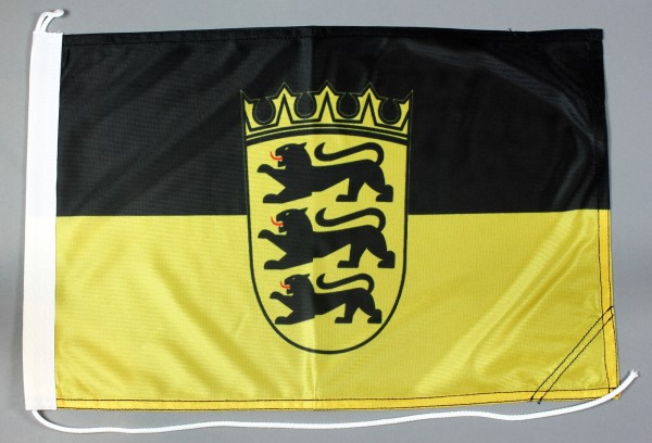 Bootsflagge Baden Württemberg 30x45 cm Motorradflagge Bootsfahne