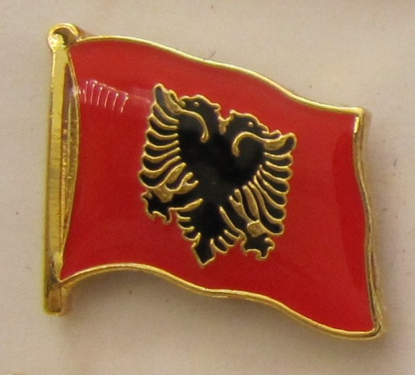 Pin Anstecker Flagge Fahne Albanien Flaggenpin Button Badge Flaggen Clip Anstecknadel