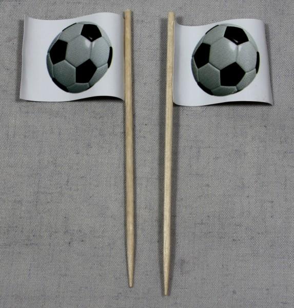 Party-Picker Flagge Fußball Papierfähnchen in Spitzenqualität 50 Stück Beutel