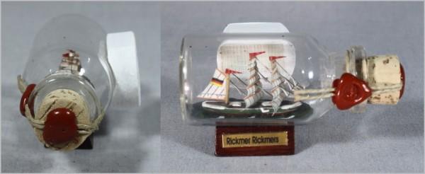Buddelschiff Rickmer Rickmers Hamburg 5x2 cm Kühlschrankmagnet mit 10x3 mm Neodym Magnet Souvenir
