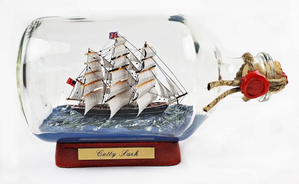 Cutty Sark 1 Liter Apothekerflasche Buddelschiff Museumsqualität