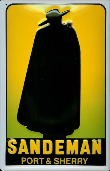 Blechschild Sandeman Port & Sherry Schild Nostalgie Werbeschild