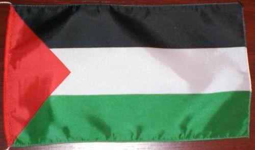 Tischflagge Palästina 25x15 cm optional mit Holz- oder Chromständer Tischfahne Tischfähnchen