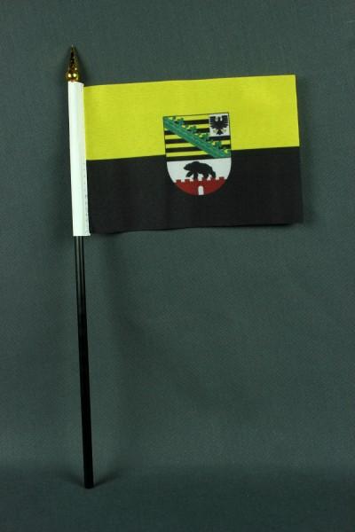 Kleine Tischflagge Sachsen Anhalt 10x15 cm optional mit Tischfähnchenständer