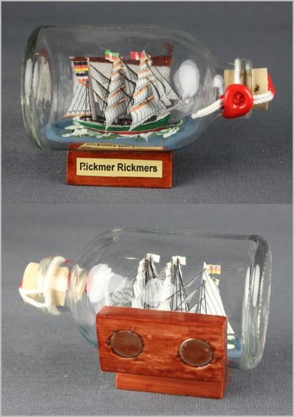 Buddelschiff Rickmer Rickmers 7,2x4,5 cm Kühlschrankmagnet mit 2 Stück 10x3 mm Neodym Magnet Souveni