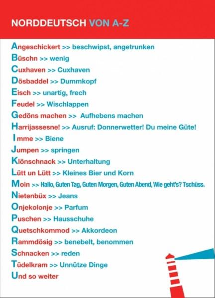 Postkarte Norddeutsch von A-Z