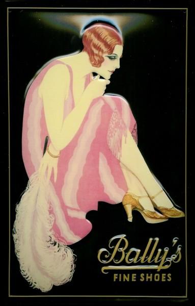 Blechschild Nostalgieschild Bally´s Fine Shoes Schuhe