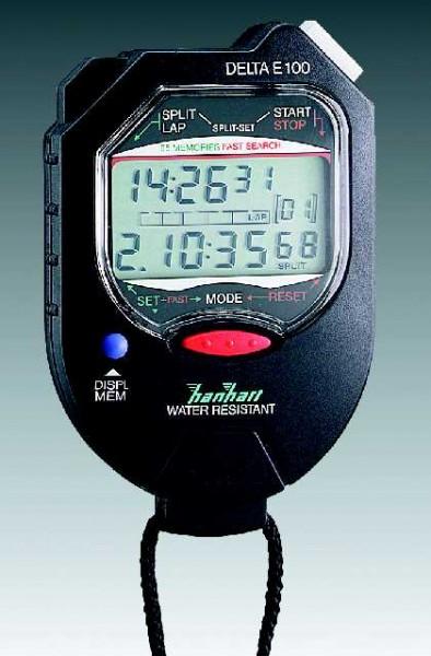 DELTA E 100 (1/100 Sekunde) digitale Stoppuhr