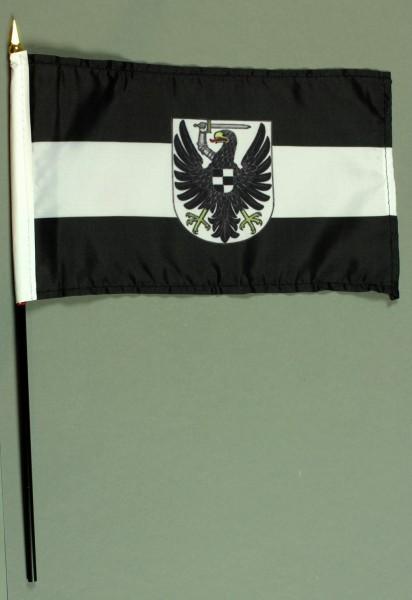 Tischflagge Westpreussen 15x25 cm BASIC optional mit Tischflaggenständer