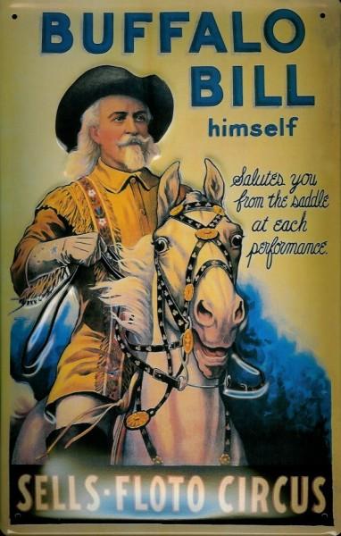Blechschild Nostalgieschild Buffalo Bill Zirkus Cowboy USA