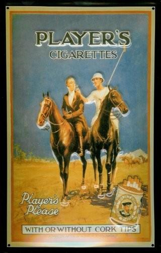 Blechschild Players Cigarettes Polo Pferd Zigaretten Schild Nostalgieschild