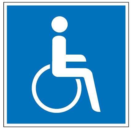 Aluminium Schild Behindertenparkplatz Rollstuhlfahrer 250x250 mm geprägt