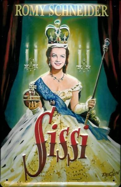 Blechschild Nostalgieschild Sissi Kaiserin Romy Schneider Filmplakat