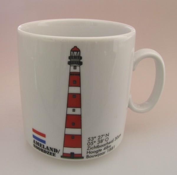 Leuchtturm Kaffee Becher Ameland Niederlande Holland Kaffeebecher Kaffeetasse Kaffeepott Teebecher