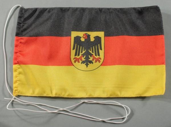 Tischflagge Deutschland Dienstflagge Adler 25x15 cm optional mit Holz- oder Chromständer Tischfahne