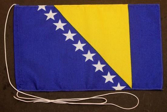 Tischflagge Bosnien Herzegowina 25x15 cm optional mit Holz- oder Chromständer Tischfahne Tischfähnch