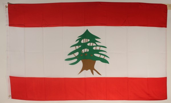 Flagge Fahne : Libanon Nationalflagge