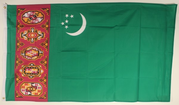 Flagge Fahne : Turkmenistan Nationalflagge Nationalfahne