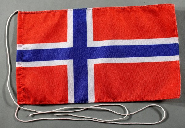 Tischflagge Norwegen 25x15 cm optional mit Holz- oder Chromständer Tischfahne Tischfähnchen