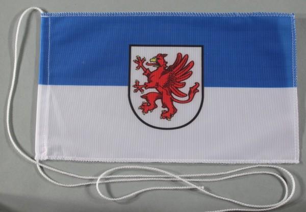 Tischflagge Vorpommern 25x15 cm optional mit Holz- oder Chromständer Tischfahne Tischfähnchen