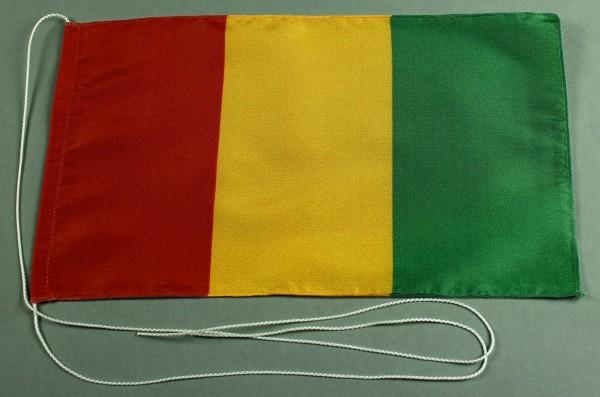 Tischflagge Guinea 25x15 cm optional mit Holz- oder Chromständer Tischfahne Tischfähnchen