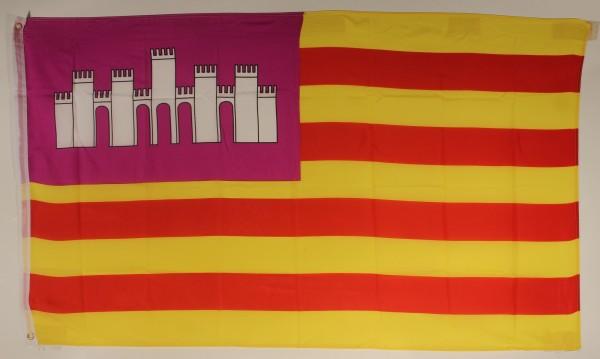 Flagge Fahne : Balearen Mallorca Ibiza Menorca