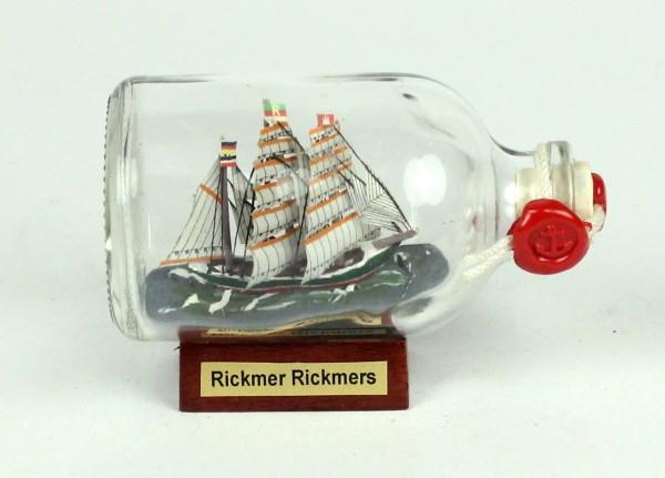 Rickmer Rickmers Mini Buddelschiff 50 ml ca. 7,2 x 4,5 cm Flaschenschiff