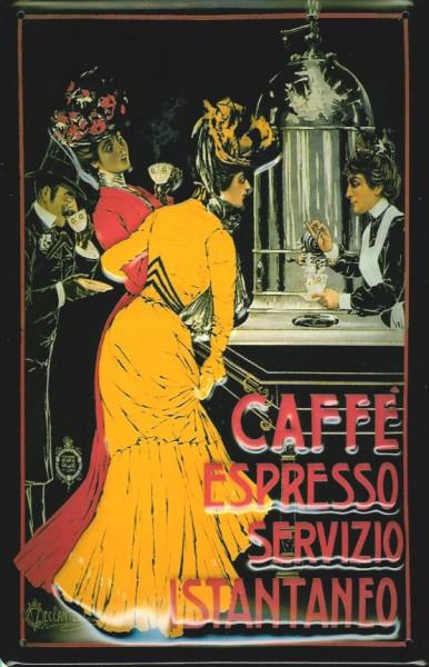 Blechschild Caffe Espresso Bar italien Cafe Coffee Shop Schild