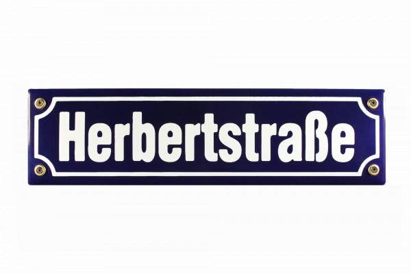 Strassenschild Herbertstraße 30x8 cm Hamburg St. Pauli Andenken Emaille Schild
