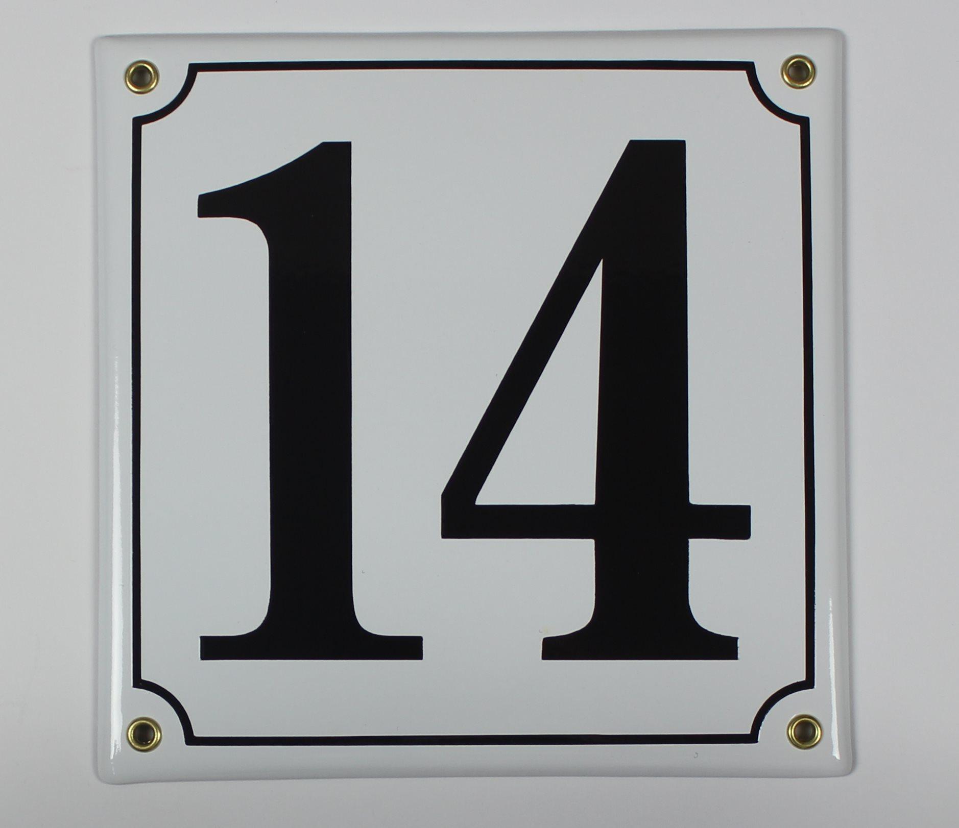 gr/ün sofort lieferbar Buddel Bini Wetterfestes Emaille Hausnummernschild 16 12 x 14 cm