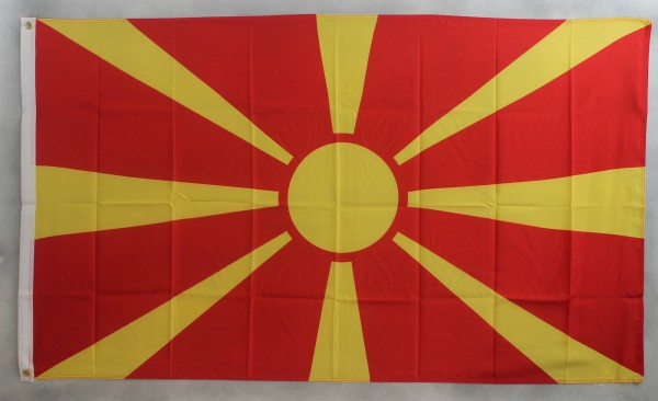 Flagge Fahne Mazedonien 90x60 cm