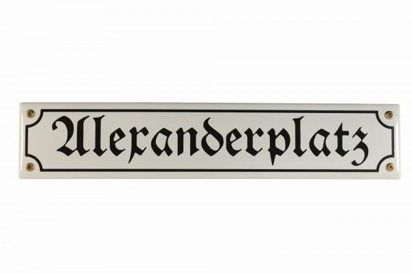 Strassenschild Alexanderplatz Berlin 40x8 cm Emaille Schild Emaileschild