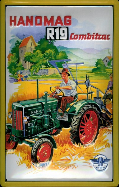 Blechschild Hanomag Combitrac R19 Traktor Nostalgieschild vintage Schild-Copy