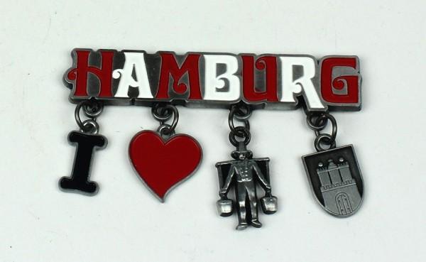 Magnet I Love Hummel Hamburg Souvenir Mitbringsel Geschenk Deko