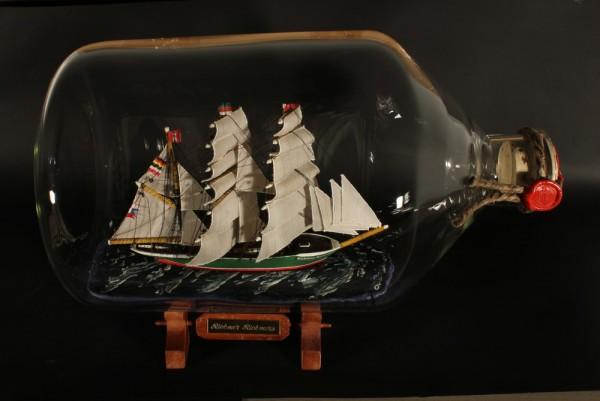 Rickmer Rickmers 5 Liter Apothekerflasche Buddelschiff Flaschenschiff