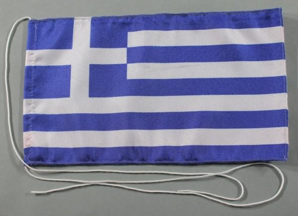 Tischflagge Griechenland 25x15 cm optional mit Holz- oder Chromständer Tischfahne Tischfähnchen