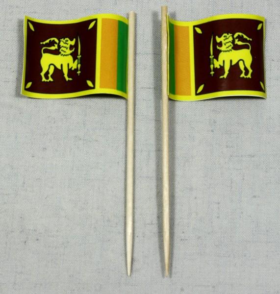 Party-Picker Flagge Sri Lanka Papierfähnchen in Spitzenqualität 50 Stück Beutel